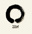 Simple Zen circle traditional enso vector image vector image