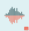 sound wave icon isolated vector image vector image