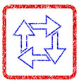 square recycle grunge framed icon vector image vector image