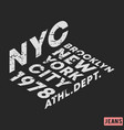 t-shirt print design nyc brooklyn star vintage vector image vector image
