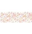 Textured pastel Leaves Horizontal Seamless Pattern vector image vector image