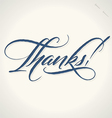 THANKS hand lettering vector image vector image