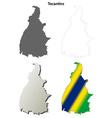 Tocantins blank outline map set vector image vector image