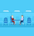 two business men interview meeting for vacancy vector image vector image