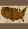 usa map on wood background vector image vector image