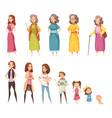 women generation decorative icons set vector image vector image