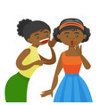 young african woman whispering secret to a friend vector image vector image