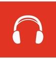 The headphone icon Sound symbol Flat vector image