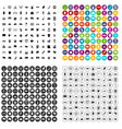 100 geography icons set variant vector image vector image