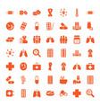 49 illness icons vector image vector image