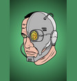 A face of cyborg