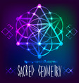 abstract background with sacred geometry vector image vector image