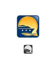 abstract cruise logo design icon app smartphone vector image vector image