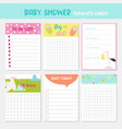 baby shower party templates child card vector image vector image