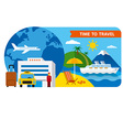 banner for travel and resort vector image