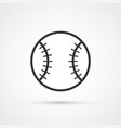 baseball icon whith trendy shadow eps10 vector image vector image