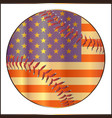 baseball stars and stripes vector image vector image