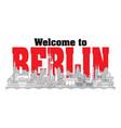 berlin skyline line art 7 vector image vector image