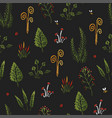 botanica dark - seamless stylized colored pattern vector image vector image