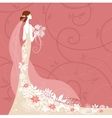 Bride on pink background vector image