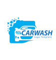 car wash logo with car icons vector image