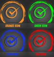 Check mark sign icon Checkbox button Fashionable vector image