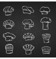 Chef caps hats and toques icons vector image
