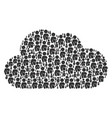cloud figure of naked woman icons vector image