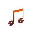 coffee note music logo icon vector image vector image