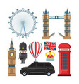 collection set london landmarks vector image