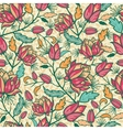 Colorful flowers and leaves seamless pattern vector | Price: 1 Credit (USD $1)