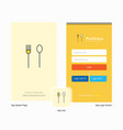 company fork and spoon splash screen and login vector image vector image