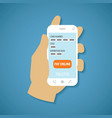 concept of mobile payment on smartphone vector image