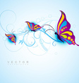creative butterfly design vector image vector image
