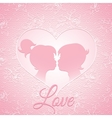 Delicate pink love card vector image vector image