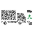 delivery composition of marijuana vector image vector image