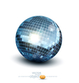 disco ball on a white background vector image vector image