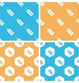 Discount pattern set colored vector image vector image