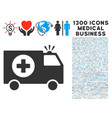 emergency icon with 1300 medical business icons vector image vector image