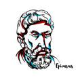 epicurus portrait vector image vector image