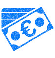 euro banknote and credit card grunge icon vector image vector image