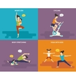 Family with kids active sport life vector image vector image
