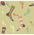 Feet and socks vector image