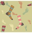 Feet and socks vector image vector image
