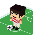 female cartoon soccer player vector image