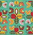 folk seamless pattern in scandinavian vector image