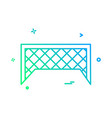 football net icon design vector image