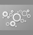 gears background cogwheels gearing isolated on vector image vector image