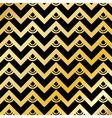 Golden Chevron Pattern Background vector image vector image