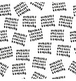 grunge black ink freehand seamless pattern vector image